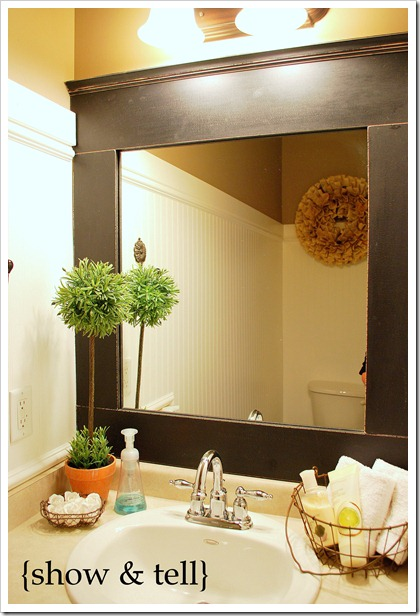 Mirror Decoration frame builder grade mirror : another framed builder mirror + a book wreath} : Sweet Pickins ...